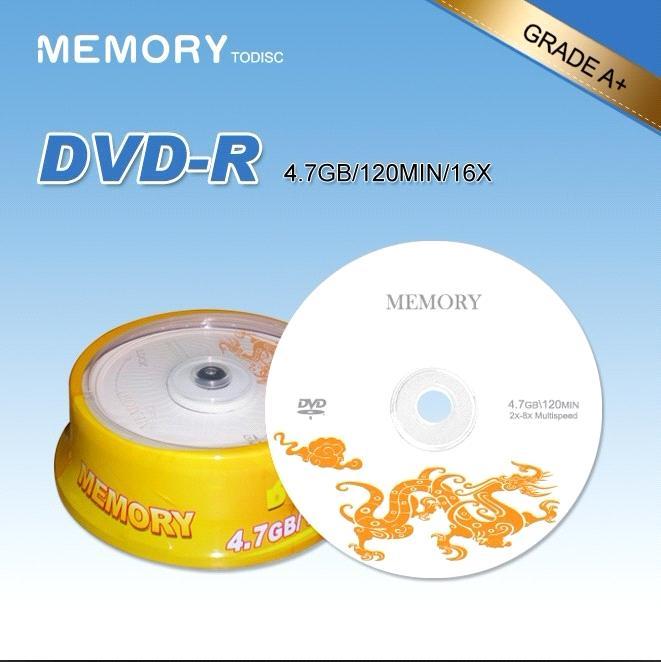Blank DVD R With 47GB 120Min 16X Or 8X