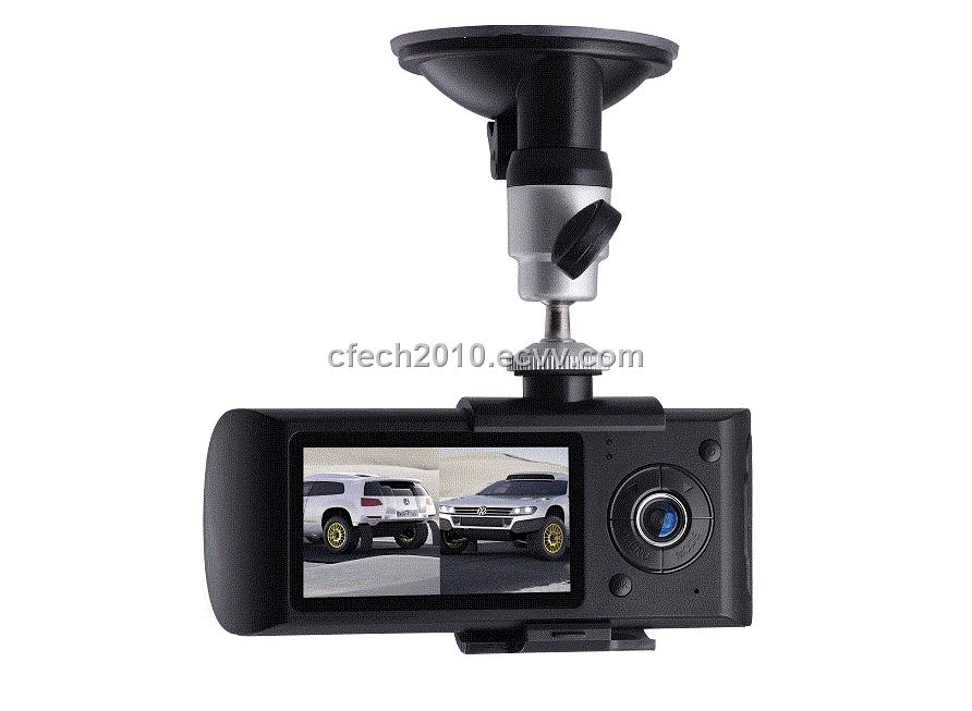 HD Dual Camera Car DVR with GPS and 3D G-Sensor