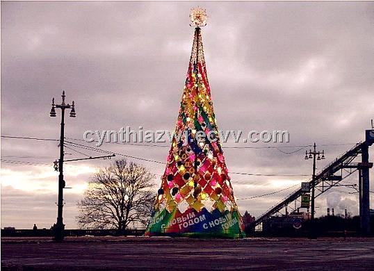 giant artificial outdoor christmas tree 13 to 50 feet tall pvc leaves