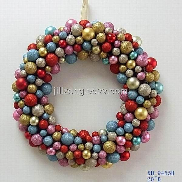 "20""D Christmas Ball Styrofoam Wreath Decorations From"