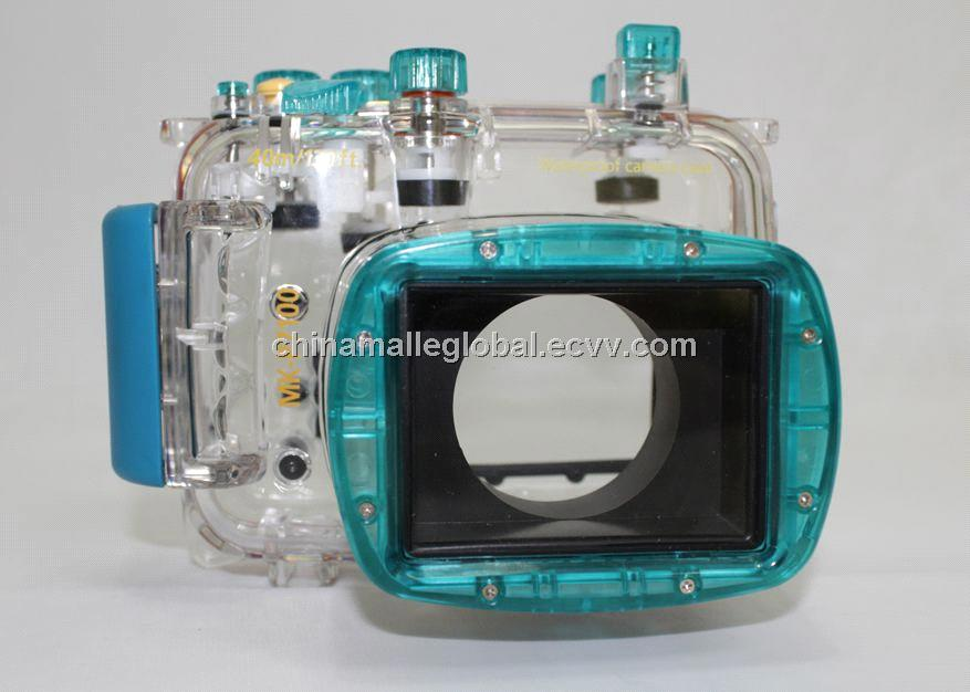 40m Waterproof Underwater Case Camera Housing Bag +Diffuser for Nikon P7100 DSLR