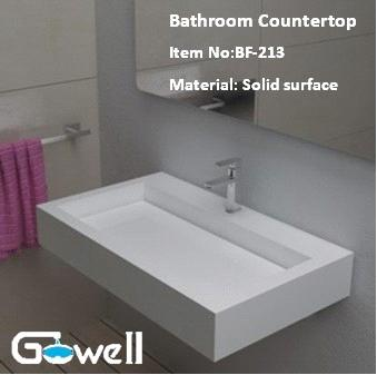 Acrylic Solid Surface Bathroom Vanity Top