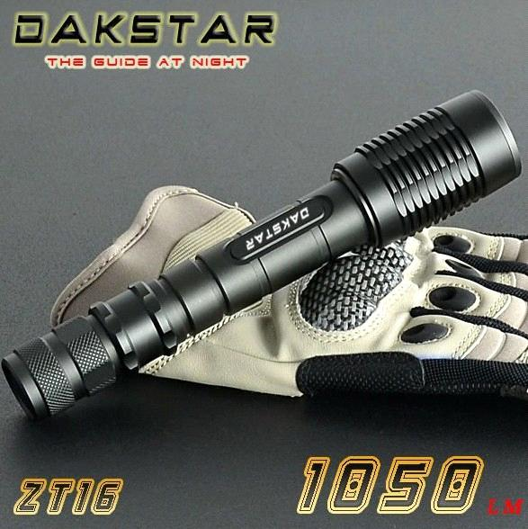 DAKSTAR ZT16 CREE XML T6 1050LM 18650 Aluminum Rechargeable LED High Power Focus Light