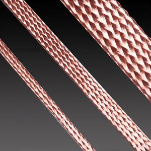 Flexible braided copper tapes