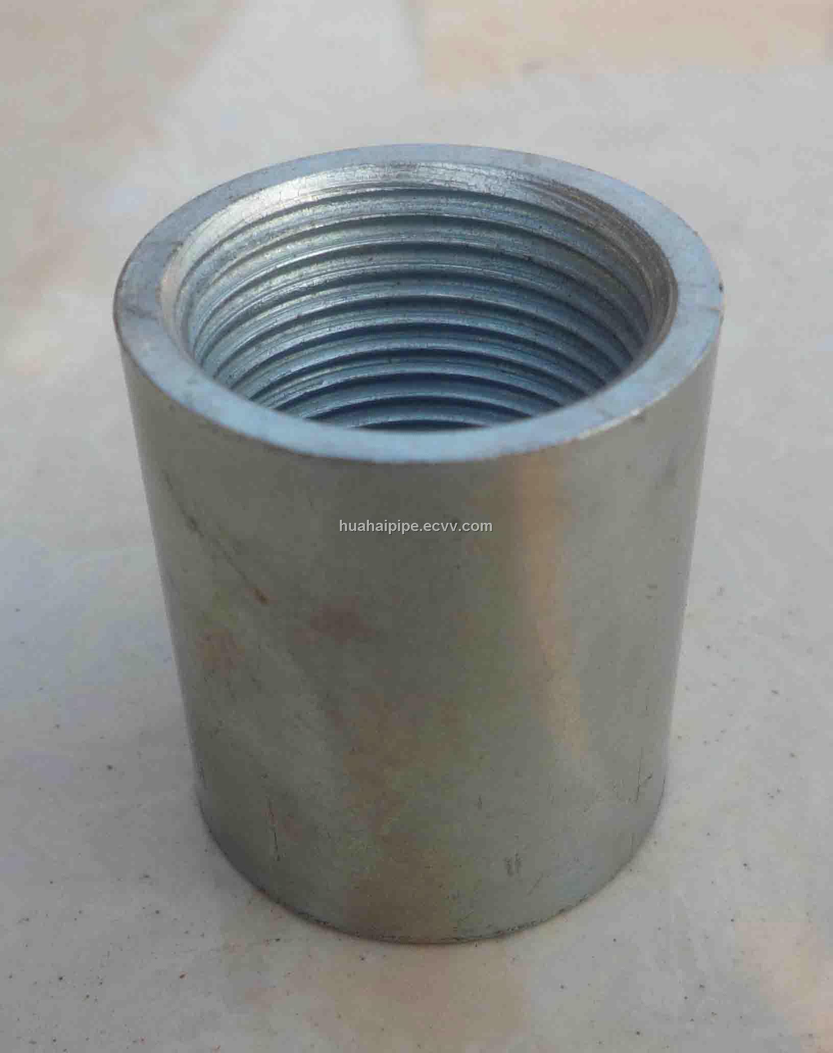 Hot galvanized carbon steel socket coupling din bspt