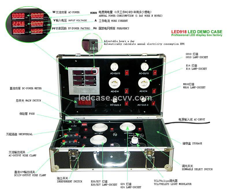 led demo case the high end led digital display test box led lighting
