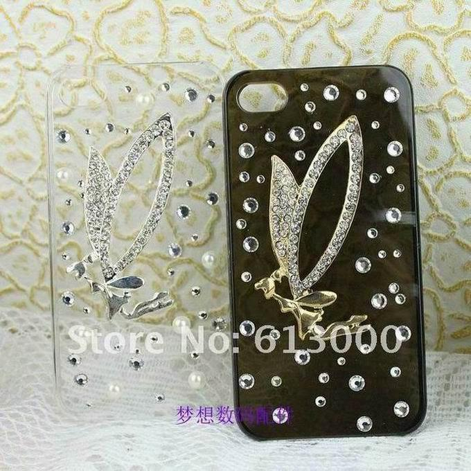 47d89ebe9 New Beautiful angel pattern rhinestone mobile phone back covers for iphone  4 4s 4g
