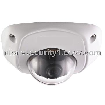 Nione Security VGA CMOS Vandalproof IP66 Network Mini Dome Camera