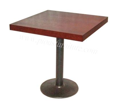 simple style stainless steel one leg square table for coffee shop ...