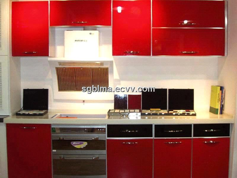 High Glossy American Standard Kitchen Cabinet from UV MDF Panel and Acrylic MDF Panel