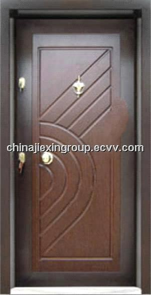 Steel Wooden Armored Security Door (TA326)