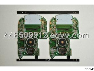 0.35mm Thickness Green 4 Layer Prototype PCB Board for Communication Equipment