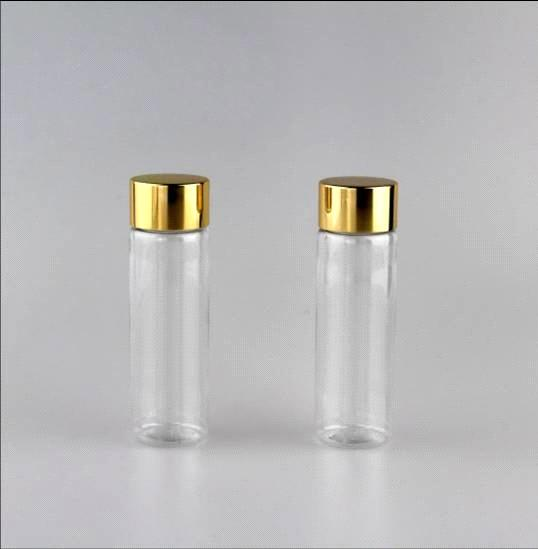 50ml Clear PET plastic vials , PET round plastic bottle, travel kits bottle