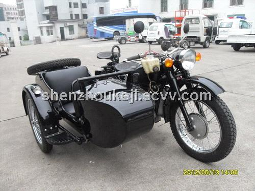 Antique Motorcycle with Sidecar-Black from China