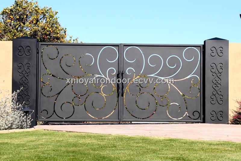 Gentil Fancy Sliding Iron Pipe Gate Designs For Homes