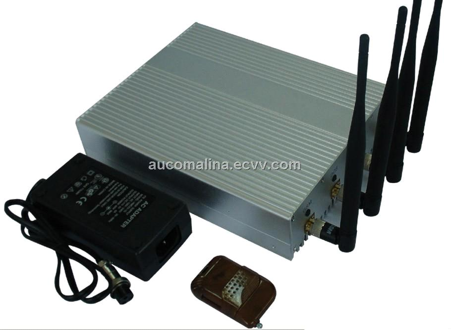 High Power big GSM+3G Mobile Cell Phone Signal Jammer with Remote Control