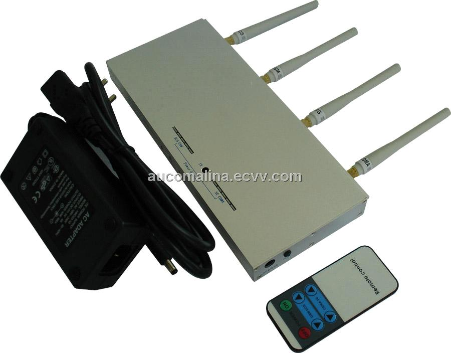 High Power big Mobile cell Phone GSM+3G Signal Jammer with Remote Control