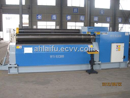 High Efficiency w11 Symmetric Form Three Roll Bending Rolling Machine