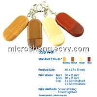 Keychain Wooden USB Flash Drive