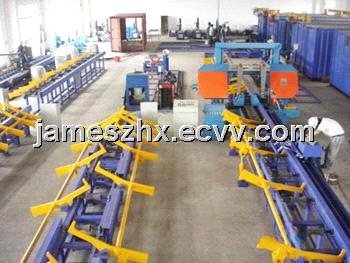 Pipe Logistics Transportation System for Band Saw Machine