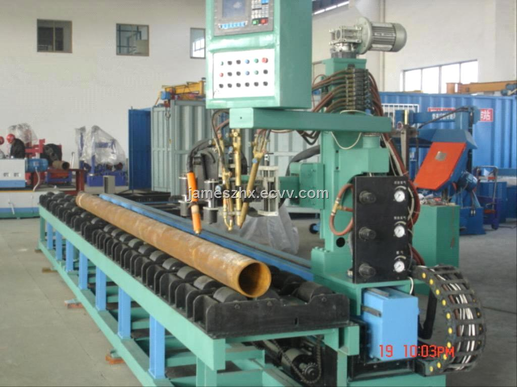 Roller Bed Type Pipe Flame Cutting Amp Beveling Machine From