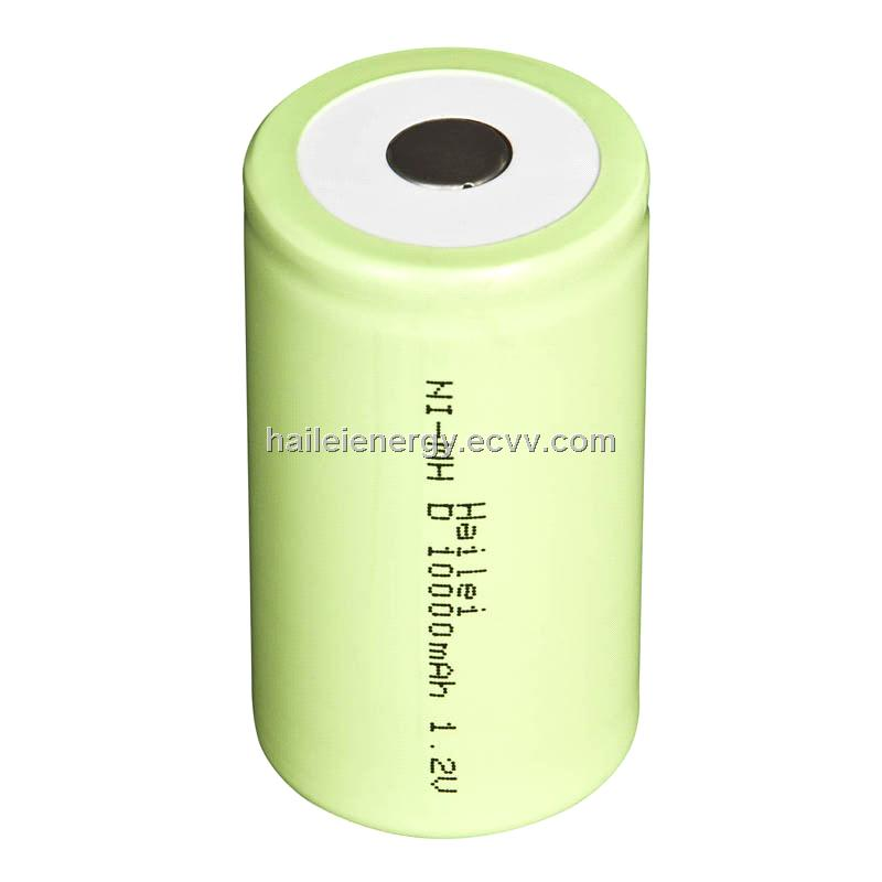1.2V10000mah D size NiMH rechargeable battery