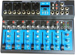 7 channel professional sound mixer console