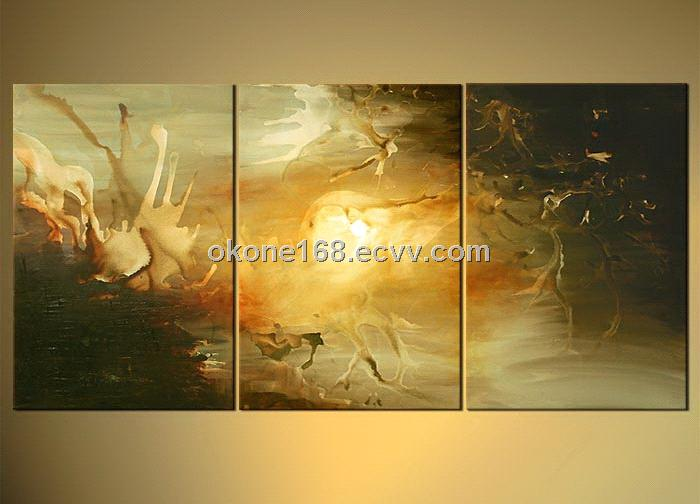 Abstract oil painting on canvas for decoration
