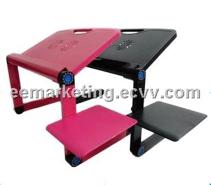 Aluminium Alloy Folding Laptop Desk Used on Bed Universal Design High Quality Factory Wholesales