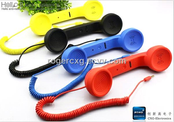 Audio handset,Retro POP Phone Handset,Skype phone,volume control function