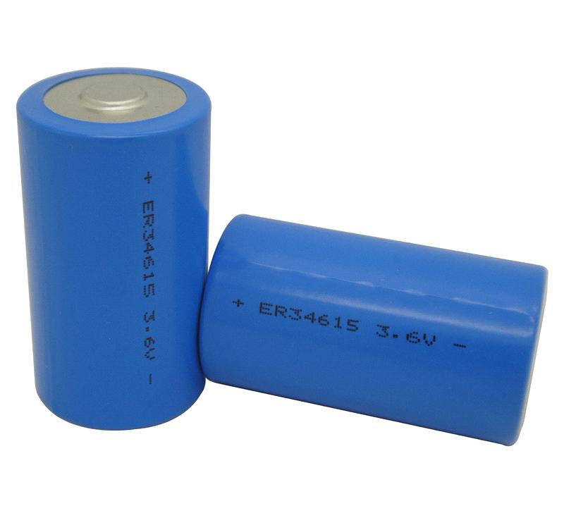 ER34615M Li-Socl2 Power Type Primary Lithium Battery 3.6V 16500mAh