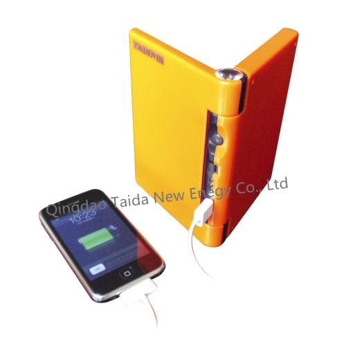 Foldable solar charger with USB outlets for Iphone