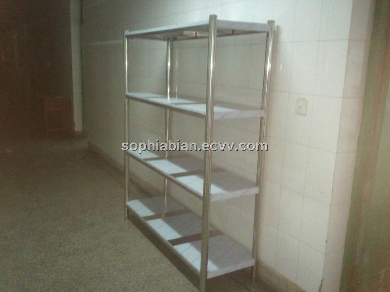 Stainless Steel Storage Racks With 4 Shelves And Adjule Feet