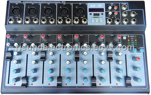 professional 6 channel sound mixer console KP-8