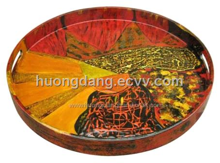 lacquer round tray