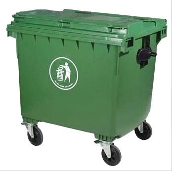 660ltr Outdoor Plastic Trash Bin With 4 Wheels Purchasing