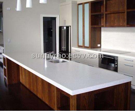 White Acrylic Countertop Kitchen