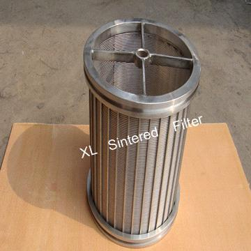 Coal separation wedge wire screen filter