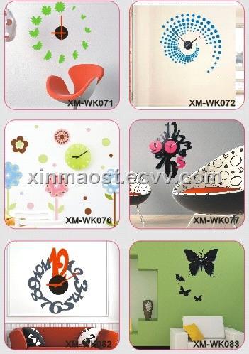 home decoration / diy wall sticker clock / environment-friendly wall