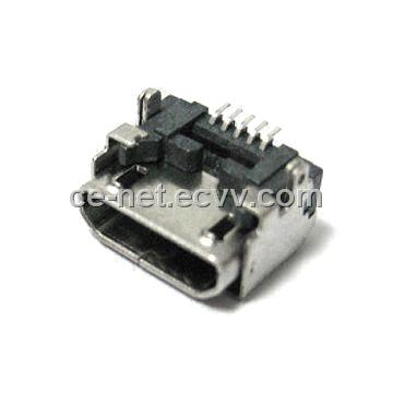 Micro USB 2.0 B Type Connector with Copper Alloy Contact and 35N Insertion Force