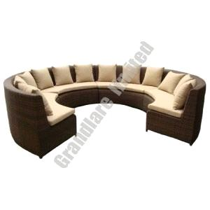 Pe Wicker Round Corner Sofa Sets Ghy001