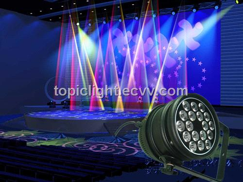 Professional Led Stage Lighting Par64 Light 3wx18pcs From