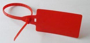 Red color plastic safety seals with Marking for Containers, Trucks, Banks