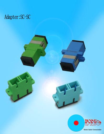SC to SC Fiber optic adapter