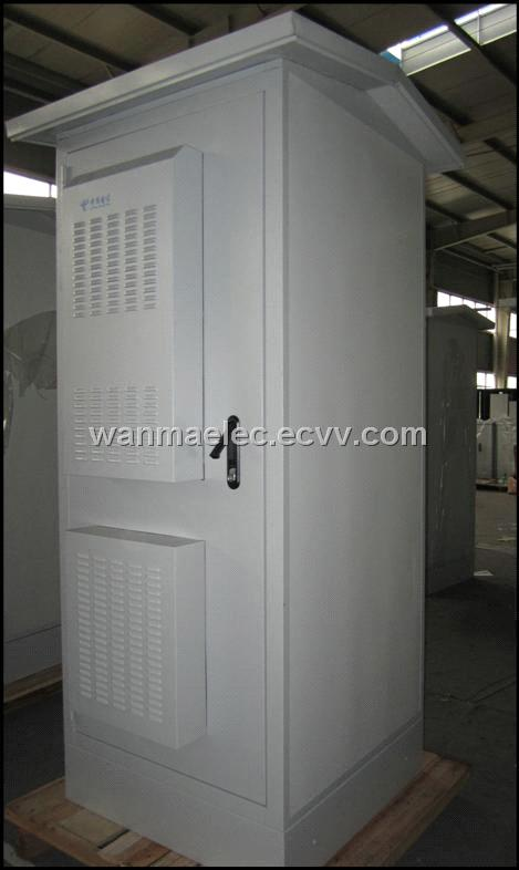 SPX3-KRII02 Outdoor telecom BTS Cabinet with air conditioner and heat exchanger