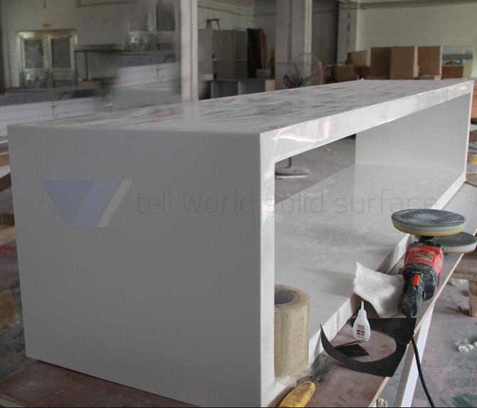 T.W Composite Acrylic Bathroom Countertops Solid Surface Bathroom  Countertops Table
