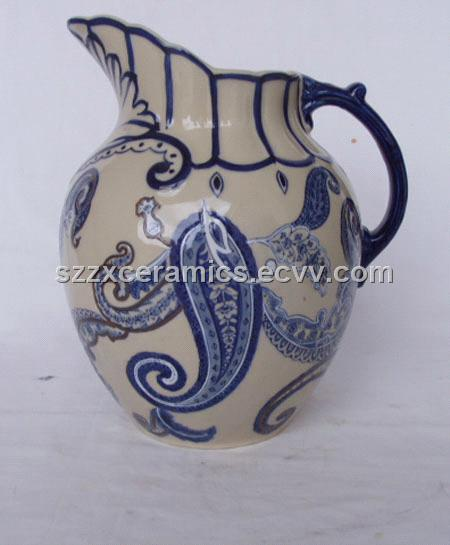 Ceramic Jug Pitcher Blue And White Vase Hot Sale And Cheap
