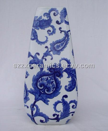 Ceramic Vase Glaze Blue And White Hot Sale And Cheap Purchasing