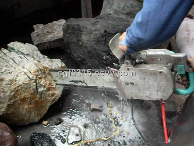 Chainsaw Cut In A Wall : Electric concrete chain saw cutting