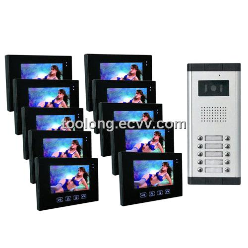 video intercom system for 10 apartments home security purchasing souring agent. Black Bedroom Furniture Sets. Home Design Ideas